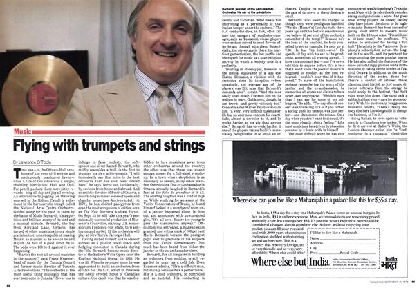 Article Preview: Flying with trumpets and strings, September 1979 | Maclean's