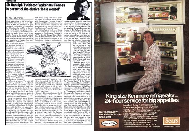 Article Preview: Sir Ranulph Twisleton-Wykeham-Fiennes in pursuit of the elusive 'least weasel', September 1979   Maclean's