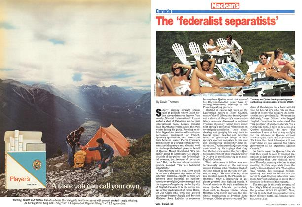 Article Preview: The 'federalist separatists', September 1979 | Maclean's