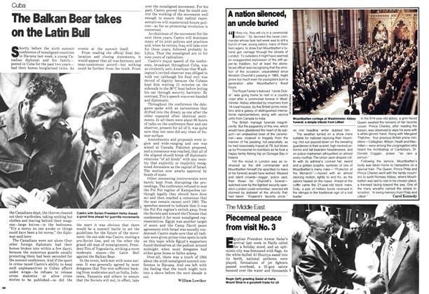 Article Preview: Piecemeal peace from visit No. 3, September 1979 | Maclean's