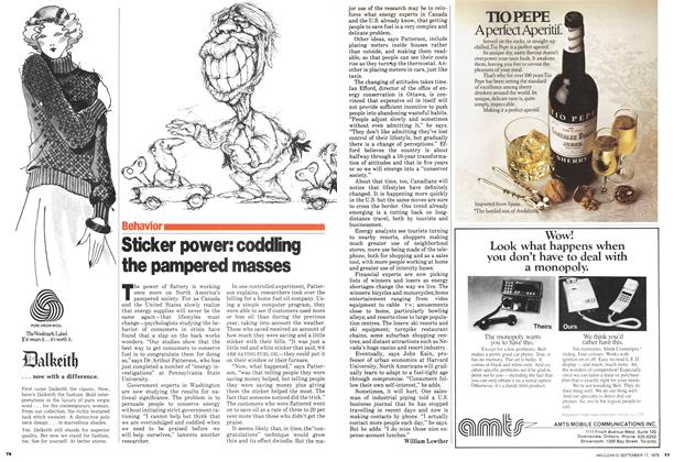 Article Preview: Sticker power: codding the pampered masses, September 1979 | Maclean's