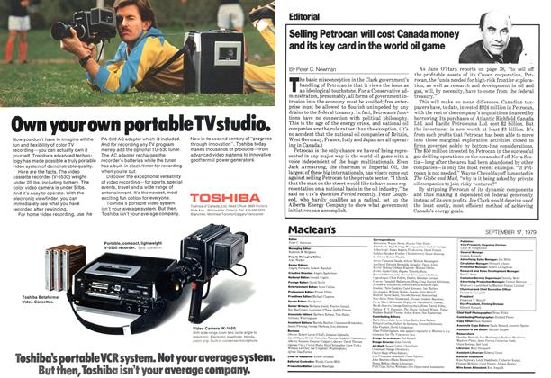 Article Preview: Selling Petrocan will cost Canada money and its key card in the world oil game, September 1979 | Maclean's