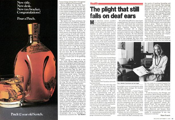 Article Preview: The plight that still falls on deaf ears, September 1979   Maclean's