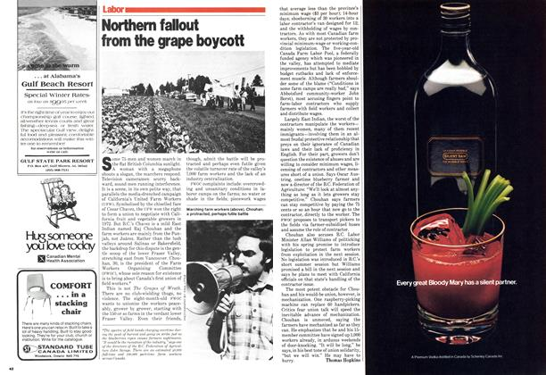 Article Preview: Northern fallout from the grape boycott, September 1979 | Maclean's