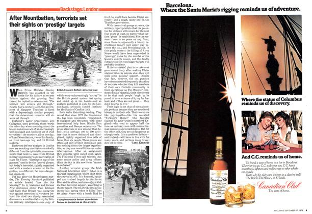 Article Preview: After Mountbatten, terrorists set their sights on 'prestige' targets, September 1979 | Maclean's