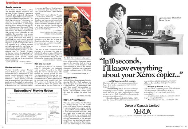 Article Preview: LETTERS, September 1979 | Maclean's