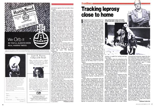 Article Preview: Tracking leprosy close to home, September 1979 | Maclean's