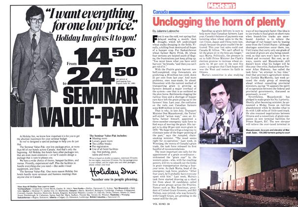 Article Preview: Unclogging the horn of plenty, September 1979 | Maclean's