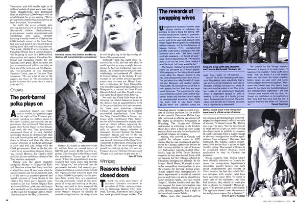 Article Preview: The pork-barrel polka plays on, September 1979 | Maclean's