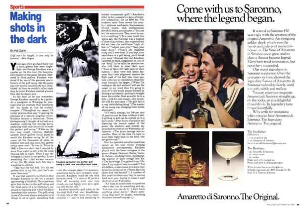 Article Preview: Making shots in the dark, September 1979 | Maclean's