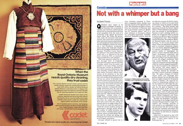 Article Preview: Not with a whimper but a bang, October 1979 | Maclean's