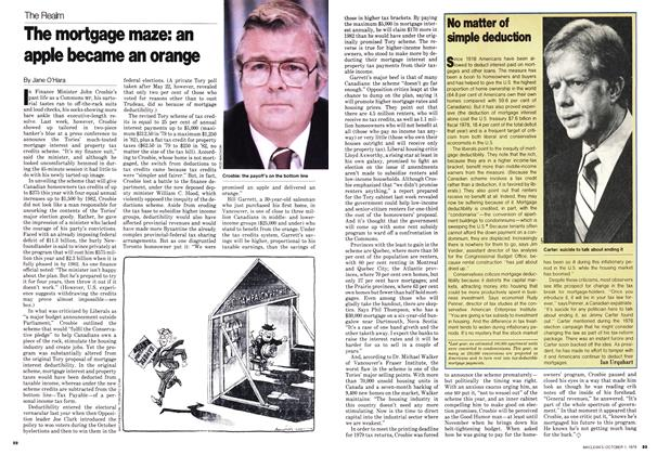 Article Preview: The mortgage maze: an apple became an orange, October 1979 | Maclean's