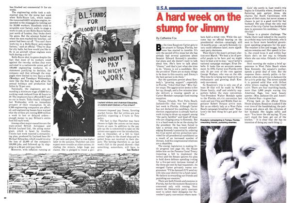 Article Preview: A hard week on the stump for Jimmy, October 1979   Maclean's