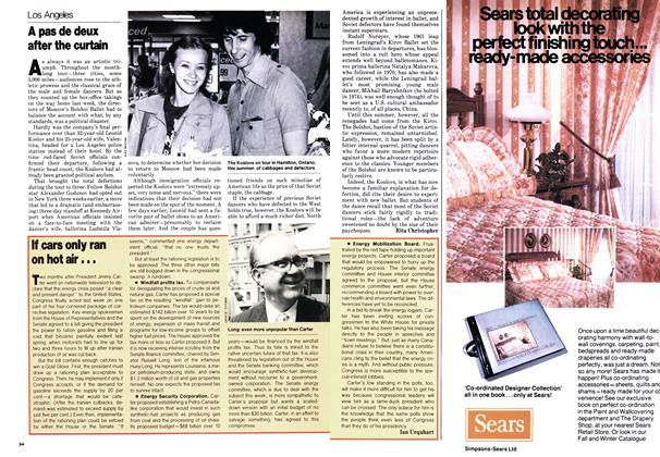 Article Preview: A pas de deux after the curtain, October 1979 | Maclean's