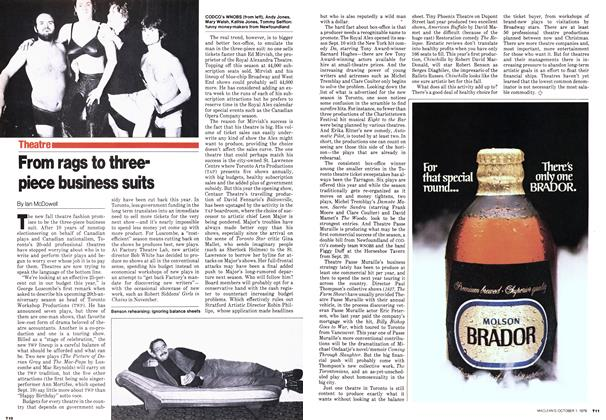 Article Preview: From rags to threepiece business suits, October 1979 | Maclean's