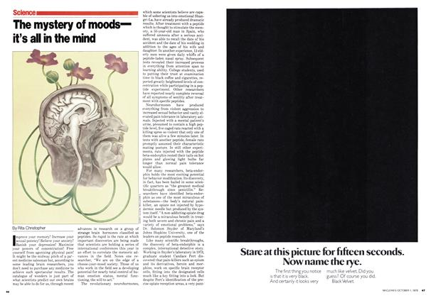 Article Preview: The mystery of moods— it's all in the mind, October 1979 | Maclean's