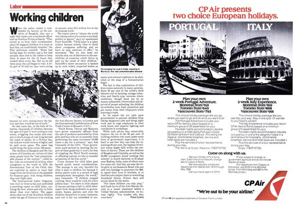 Article Preview: Working children, October 1979 | Maclean's