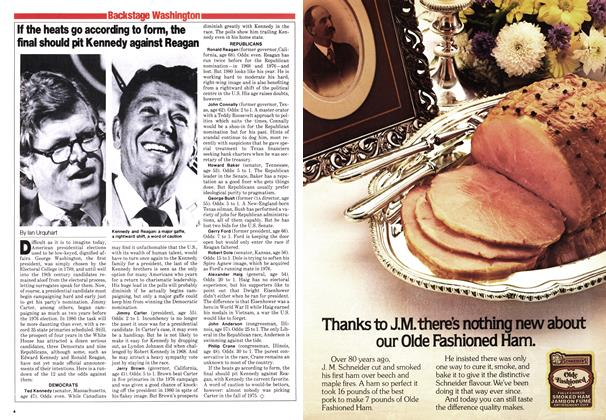 Article Preview: If the heats go according to form, the final should pit Kennedy against Reagan, October 1979 | Maclean's