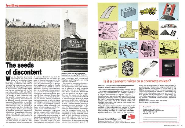 Article Preview: The seeds of discontent, October 1979 | Maclean's