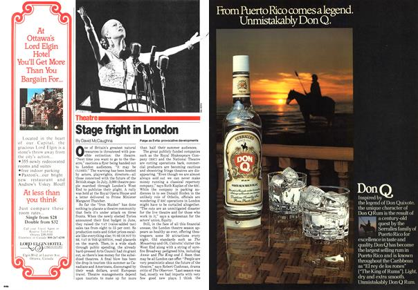 Article Preview: Stage fright in London, October 1979 | Maclean's