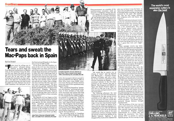 Article Preview: Tears and sweat: the Mac-Paps back in Spain, October 1979 | Maclean's