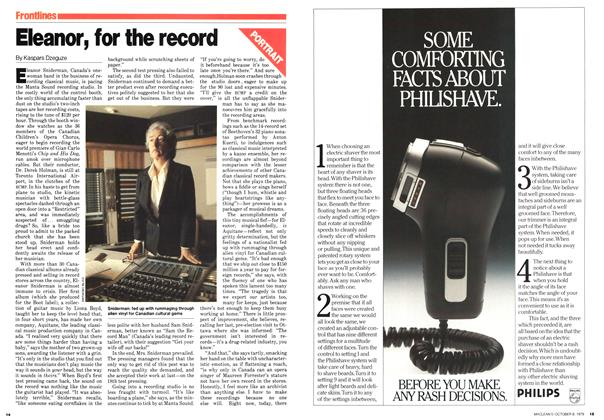 Article Preview: Eleanor, for the record, October 1979 | Maclean's