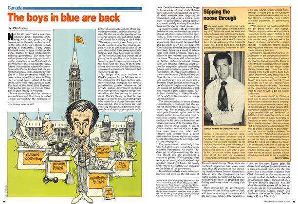 Article Preview: The boys in blue are back, October 1979 | Maclean's