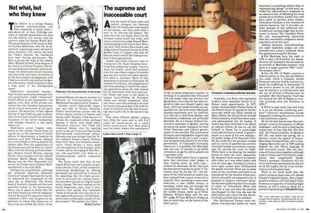 Article Preview: Not what, but who they knew, October 1979 | Maclean's