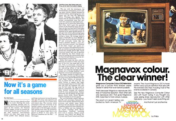 Article Preview: Now it's a game for all seasons, October 1979 | Maclean's