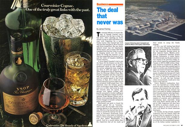 Article Preview: The deal that never was, October 1979 | Maclean's