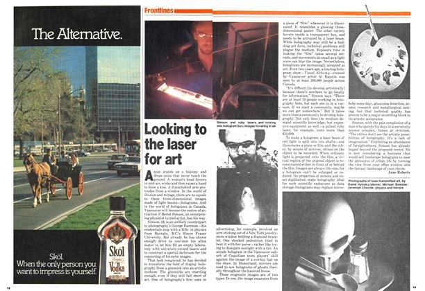 Article Preview: Looking to the laser for art, October 1979 | Maclean's