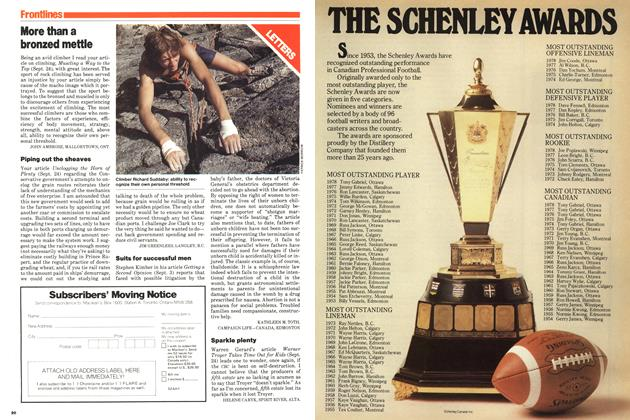 Article Preview: More than a bronzed mettle, October 1979 | Maclean's
