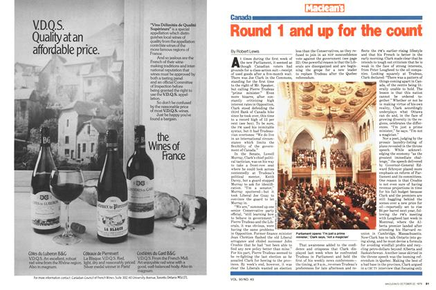 Article Preview: Round 1 and up for the count, October 1979 | Maclean's