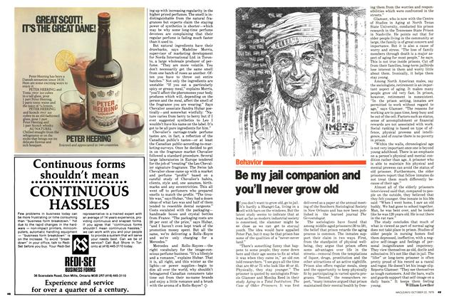 Article Preview: Be my jail companion and you'll never grow old, October 1979 | Maclean's