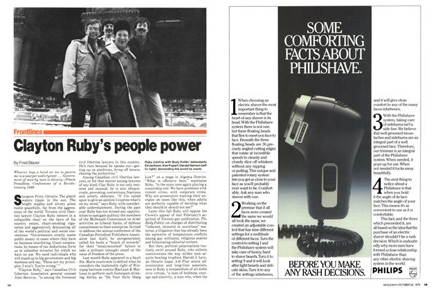 Article Preview: Clayton Ruby's people power, October 1979 | Maclean's
