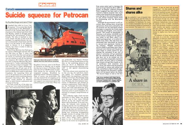 Article Preview: Suicide squeeze for Petrocan, October 1979 | Maclean's