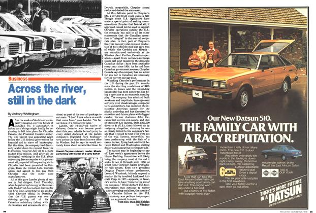 Article Preview: Across the river, still in the dark, October 1979 | Maclean's