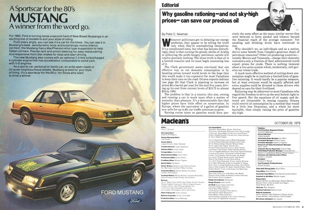 Article Preview: Why gasoline rationing-and not sky-high pricescan save our precious oil, October 1979 | Maclean's
