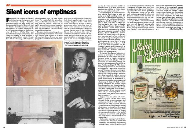 Article Preview: Silent icons of emptiness, October 1979 | Maclean's