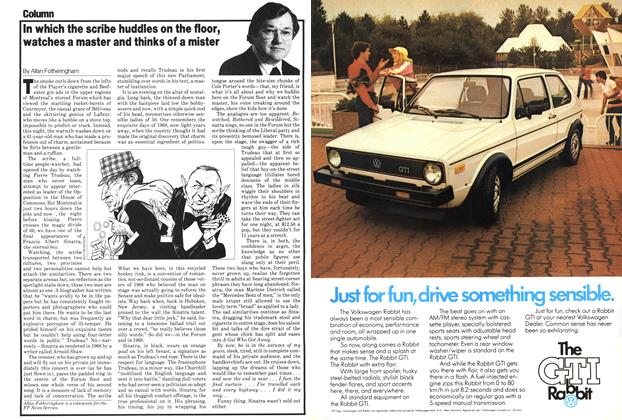 Article Preview: In which the scribe huddles on the floor, watches a master and thinks of a mister, October 1979 | Maclean's