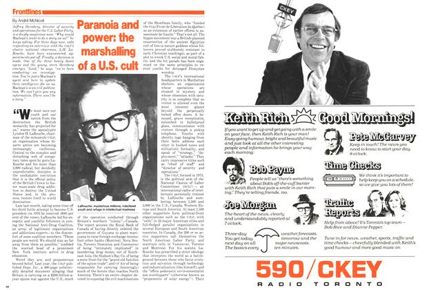 Article Preview: Paranoia and power: the marshalling of a U.S. cult, October 1979 | Maclean's