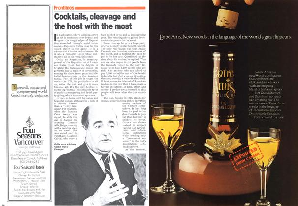 Article Preview: Cocktails, cleavage and the host with the most, November 1979 | Maclean's