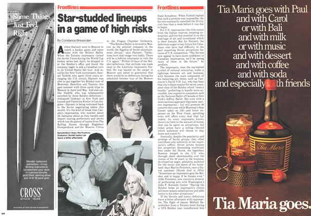 Article Preview: Star-studded lineups in a game of high risks, November 1979 | Maclean's