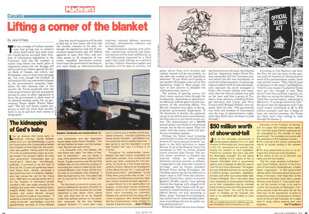 Article Preview: Lifting a corner of the blanket, November 1979 | Maclean's