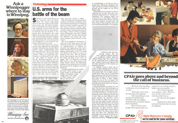 Article Preview: U.S. arms for the battle of the beam, November 1979 | Maclean's