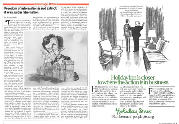 Article Preview: Freedom of information is not extinct; it was just in hibernation, November 1979 | Maclean's