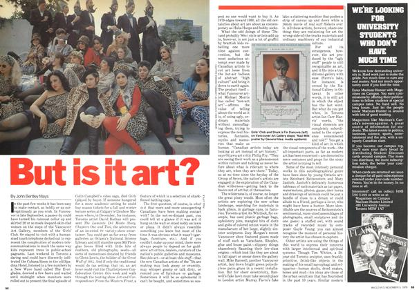 Article Preview: But is it art?, November 1979 | Maclean's