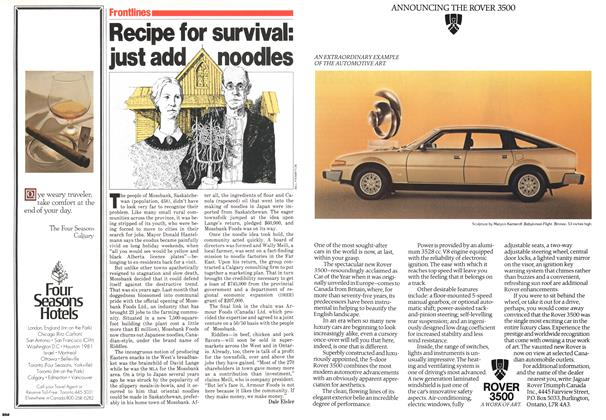 Article Preview: Recipe for survival: just add noodles, November 1979 | Maclean's