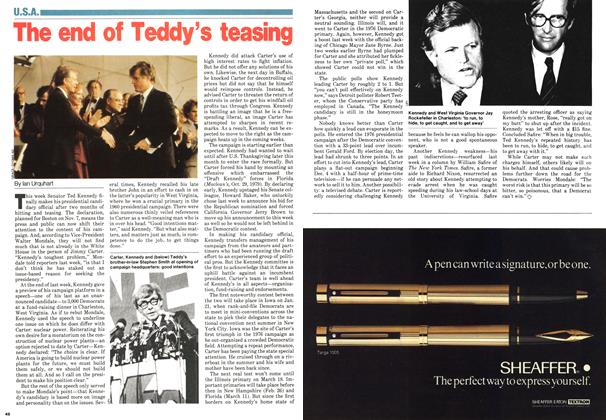 Article Preview: The end of Teddy's teasing, November 1979 | Maclean's