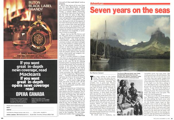 Article Preview: Seven years on the seas, November 1979 | Maclean's